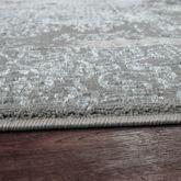 Orientteppich Moderner Barock Muster Mit 3D Optik Used Look Meliert In Grau – Bild 3