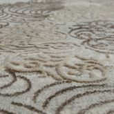 Orientteppich Moderner Used Look Mit 3D Optik Meliert Barock Muster Grau Creme – Bild 2