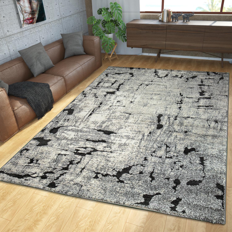 Teppich modern edel hoch tief struktur natur design - Teppich modern grau ...