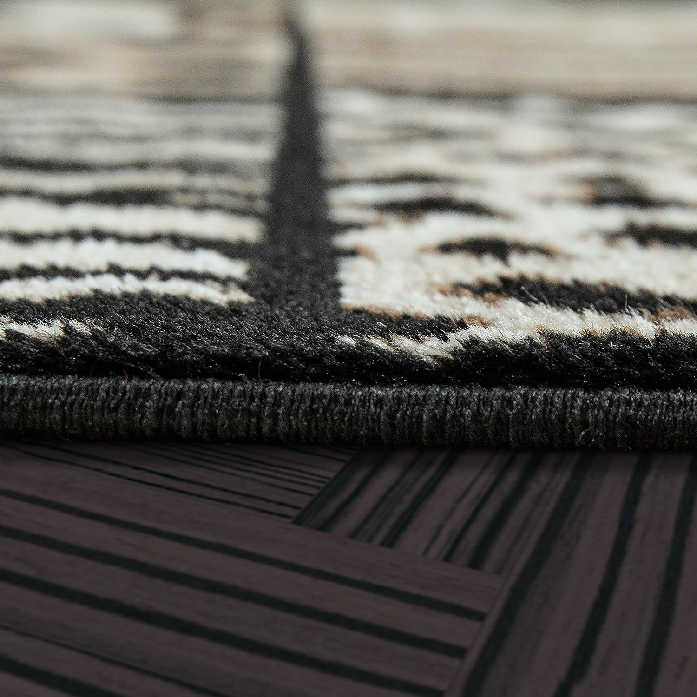 Moderner wohnzimmer teppich animal muster patchwork design kurzflor in braun moderne teppiche - Wohnzimmer muster ...