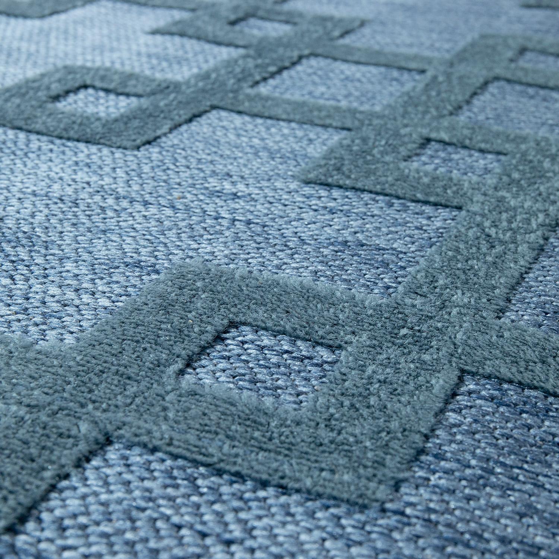 moderner outdoor teppich wetterfest f r innen au enbereich kreuz design blau moderne teppiche. Black Bedroom Furniture Sets. Home Design Ideas