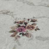 Badteppich Set Im Vintage Look Moderne Badematte Romantische Rosen Creme Rosa – Bild 2