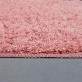 Microfaser Badematte Kuschelig Weich Moderner Badvorleger Rutschfest In Uni Pink – Bild 3