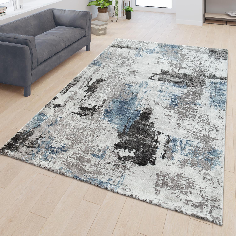 Wohnzimmer Teppich 3d Optik Modernes Abstraktes Design Kurzflor