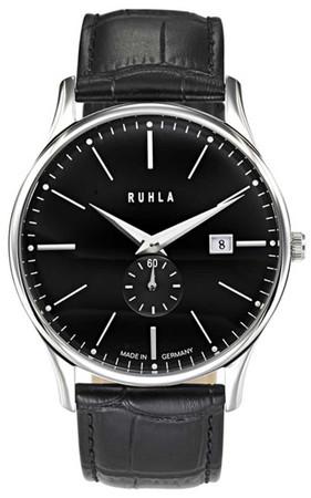 GARDE Edelstahl Herren-Armbanduhr Analog Leder-Armband Ruhla Classic 91234