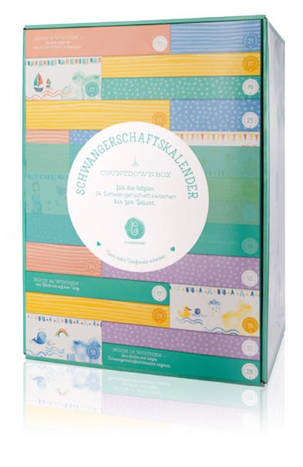 Schwangerschaftskalender Geschenkbox für 24 Schwangerschaftswochen