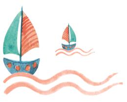 Zeichnung von Booten