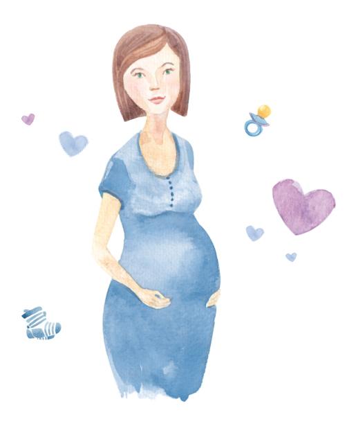 Zeichnung schwangere Frau