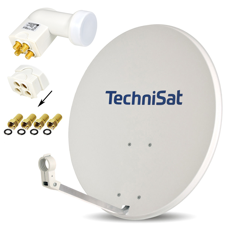 Digitale 4K HD Sat Anlage 80cm Schüssel Spiegel Antenne Single LNB Monoblock