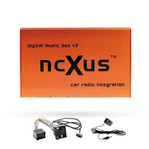 [Paket] ncXus V3 Pro BMW USB SD MP3 CD Wechsler Interface für BMW Business Radio und Business CD mit Bluetooth A2DP + 10-Pin Adapter Kabel