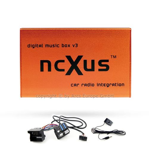 [Paket] ncXus V3 Pro BMW USB SD MP3 CD Wechsler Interface für BMW Business Radio und Business CD mit Bluetooth A2DP + 12-Pin Adapter Kabel