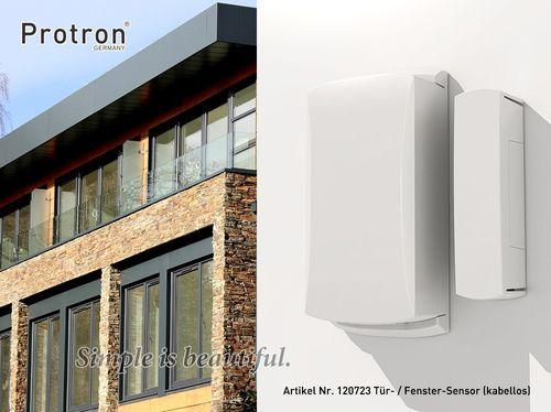 """Smart Home Tür / Fenster - Sensor Kontakt Melder für Alarmanlage Protron """"W20"""""""