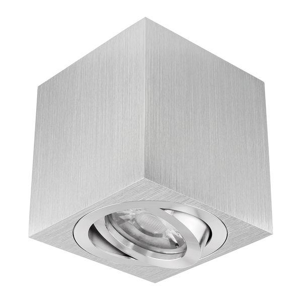 decken aufbauspot duce aus alu schwenkbar inkl led leuchtmittel 5w smd warm weiss 230v. Black Bedroom Furniture Sets. Home Design Ideas