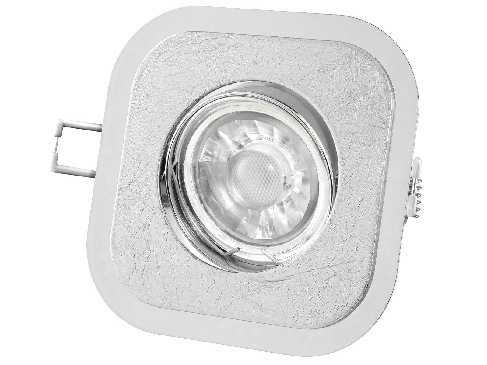 Luxus-flach-silber-geschwenkt Verwunderlich Gu10 Led Dimmbar Dekorationen