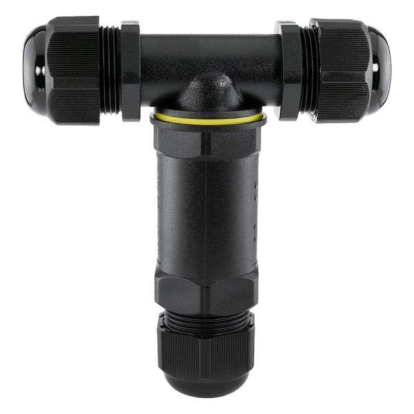 wCable Set mit 3x Kabelverbinder T-Stück 5-polig für außen Erdkabel Ø 4-14 mm IP68 Wasserdicht – Bild 6