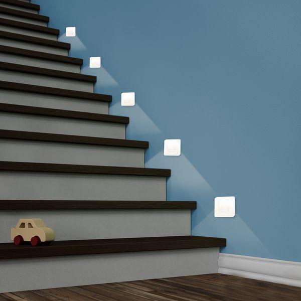 LED-Wandeinbauleuchte DEVA AC, weiß, 1W 230V, IP20, Lichtfarbe warm weiß – Bild 5