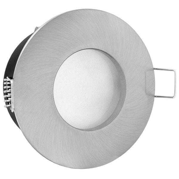 RW-1 Feuchtraum LED-Einbaustrahler Bad Einbauleuchte Edelstahl gebürstet IP65 3,5W SMD LED warmweiß, GU10 230V wie 35W – Bild 3