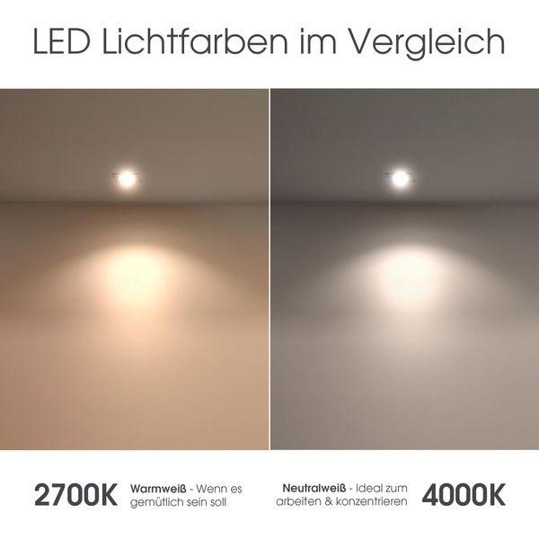 RW-1 LED-Einbaustrahler Bad Feuchtraum Aussenbereich weiß-matt, starr, IP65, LEDON 4,3W LED dimmbar warm weiß GU10 – Bild 8