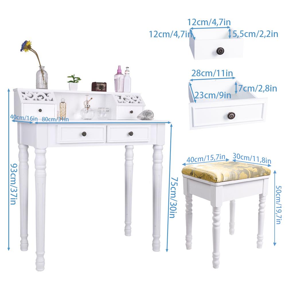 schminktisch frisiertisch kosmetiktisch ohne spiegel makeup table schreibtisch ebay