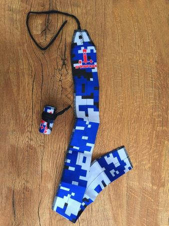 AMRAP CF Wrist Wraps Camo-Blue – Bild 4