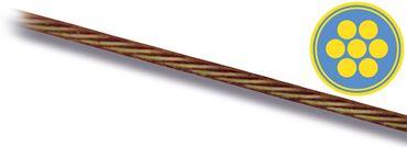 TB Stahlvorfach 1x7, 7 kg, Nylonummantelt, Braun – Bild 1