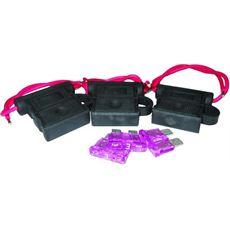 Navico Set mit 3 wassergeschützten Sicherungshalterungen und 3 Sicherungen
