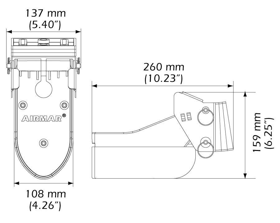 Airmar TM 185 M Medium CHIRP Heck-Geber mit 9Pin XSonic Stecker, 1 kW, 10m Kabel – Bild 2