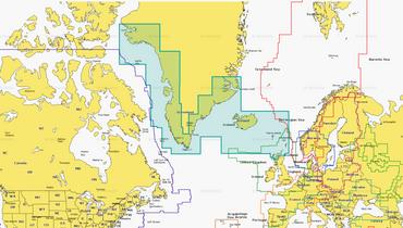 Navionics + 20XG, Grönland, Island und Faroer Inseln auf MSD-Chip