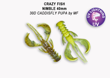 Crazy Fish Nimble 6,5 cm – Bild 1