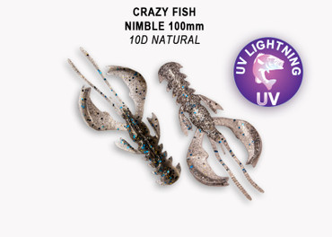 Crazy Fish Nimble 10 cm – Bild 2