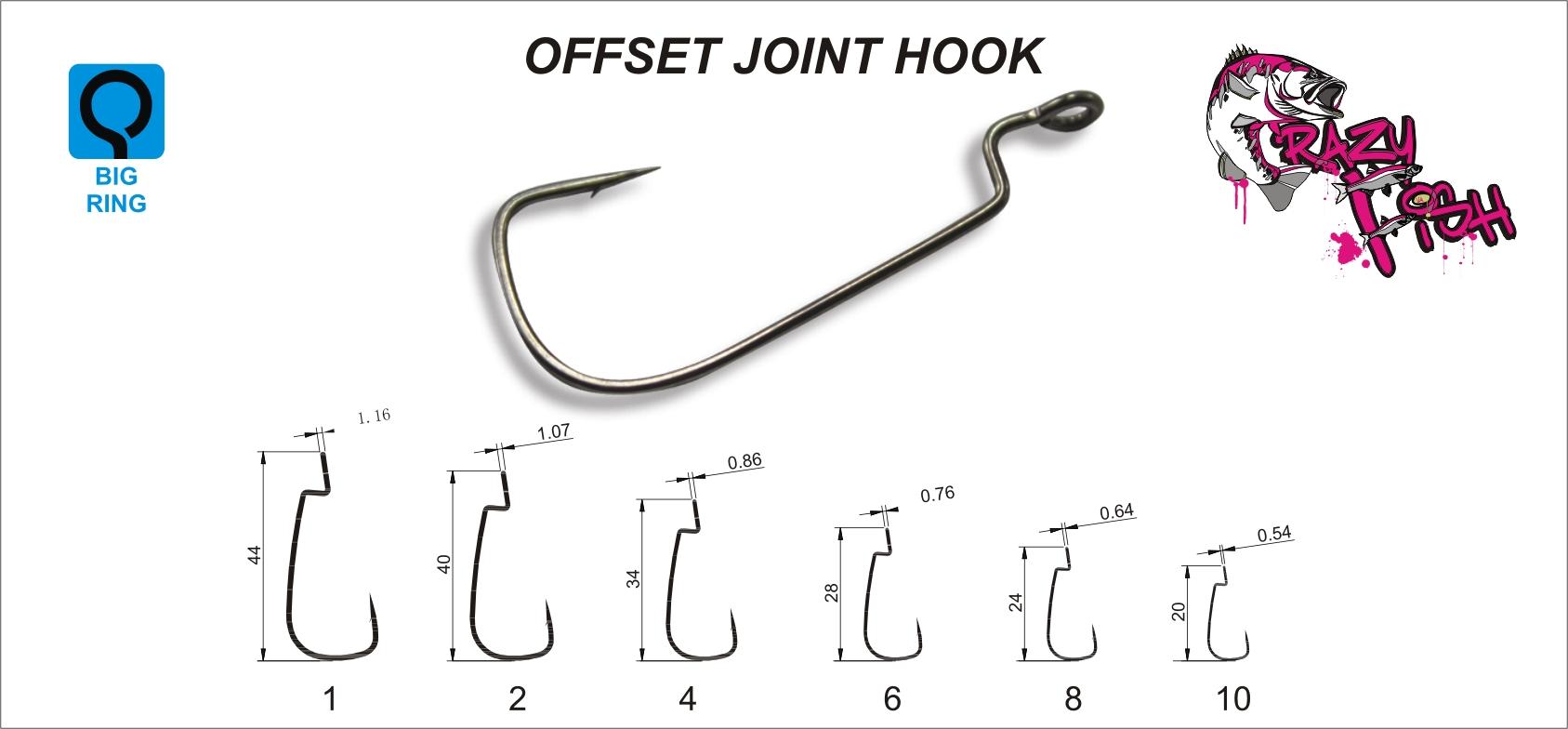 Crazy Fish Offset Joint Hook – Bild 3