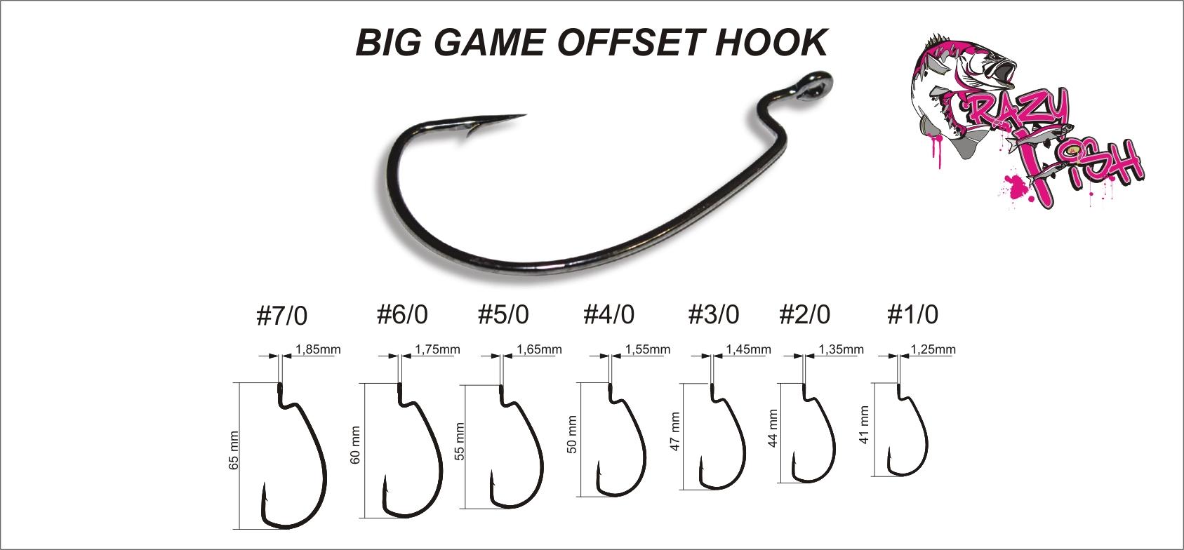 Crazy Fish Big Game Offset Hook – Bild 3