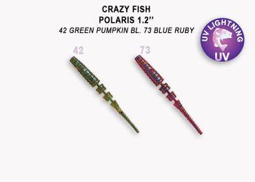 Crazy Fish Polaris 3 cm, 2 Farben a 8 Stück (gesamt 16 Stück) p.P.  – Bild 1