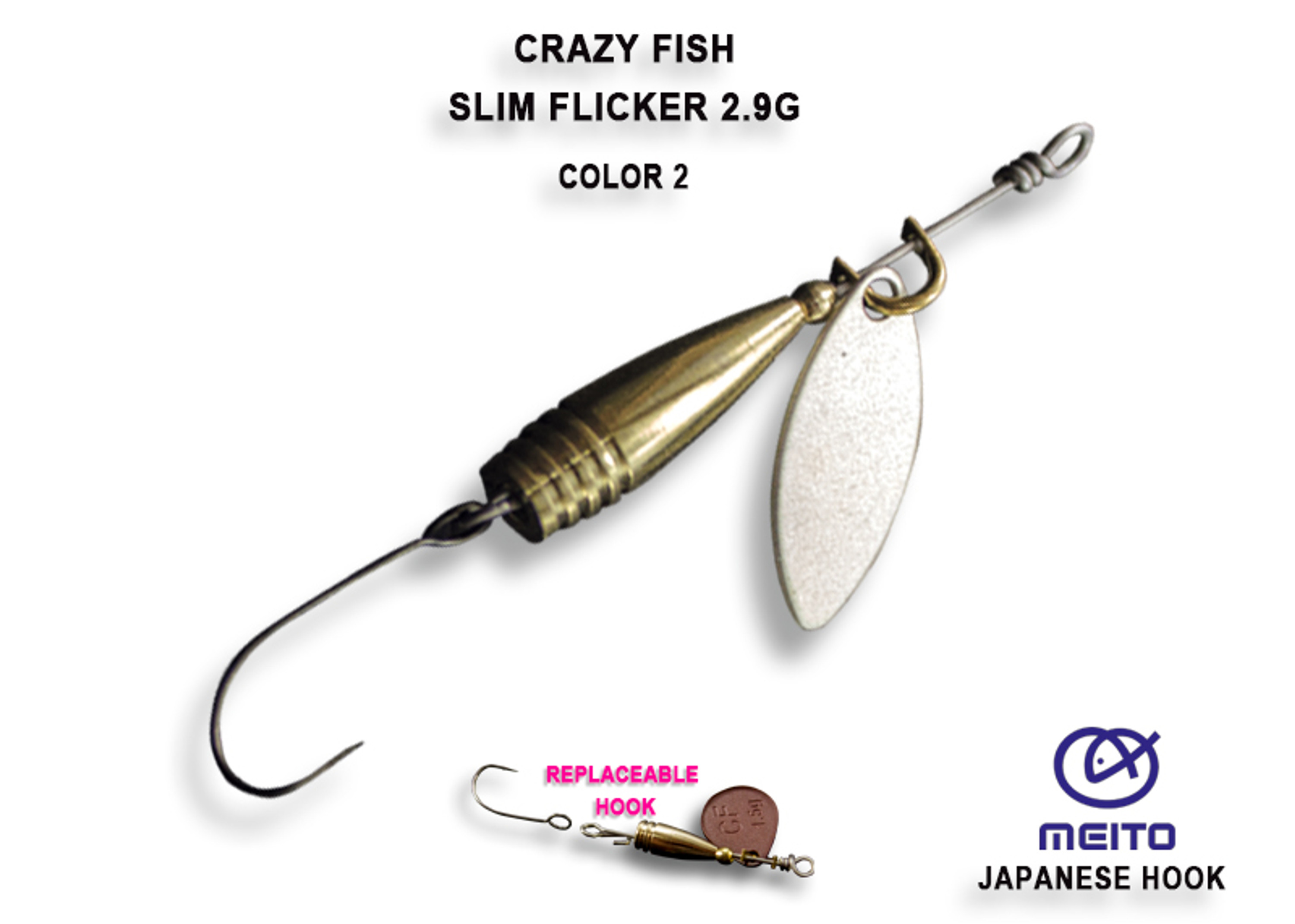 Crazy Fish Slim Flicker 2,9 gr – Bild 3