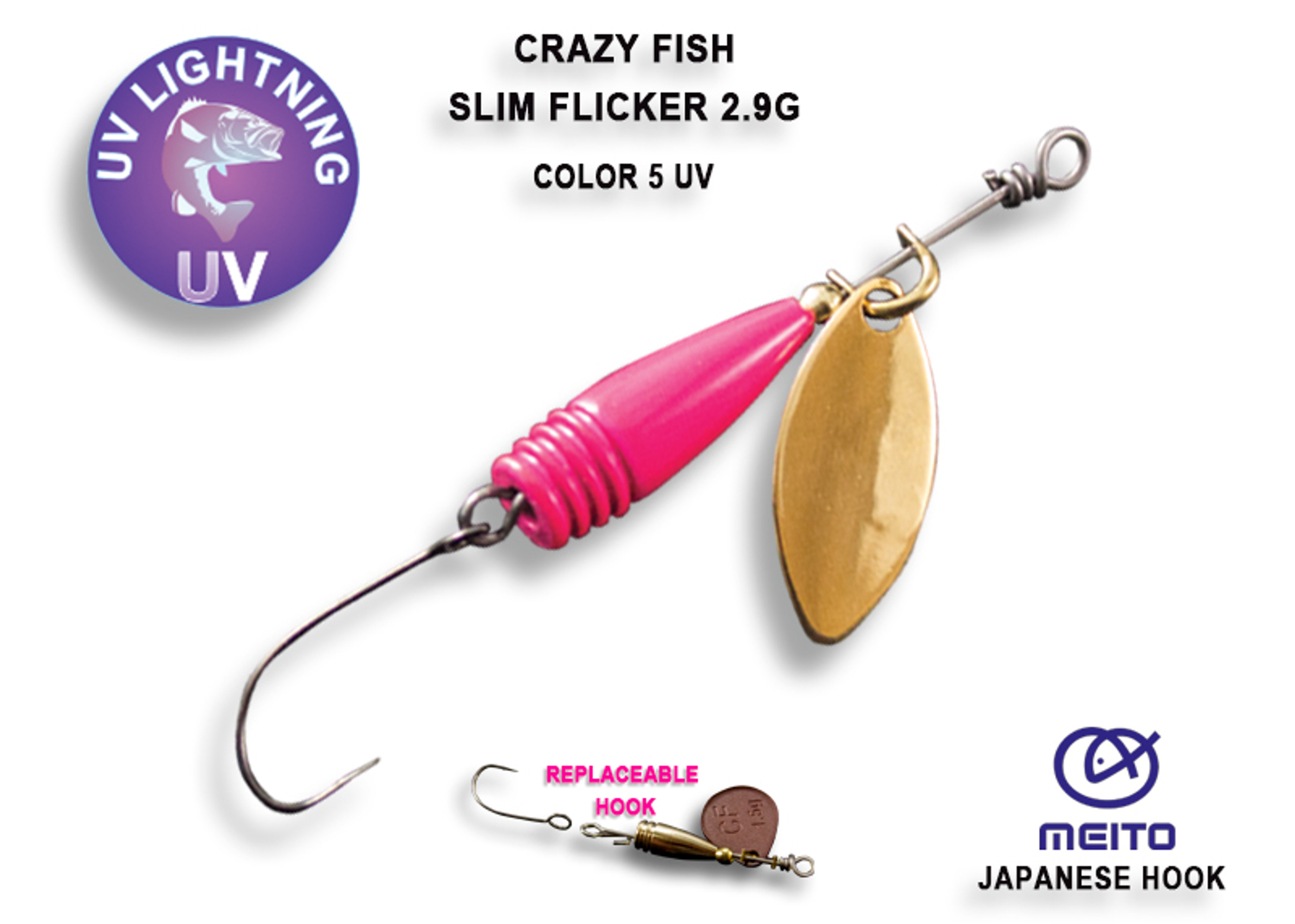 Crazy Fish Slim Flicker 2,9 gr – Bild 4