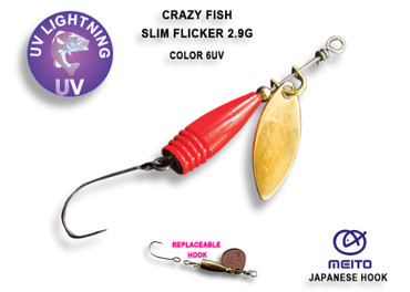 Crazy Fish Slim Flicker 2,9 gr – Bild 1