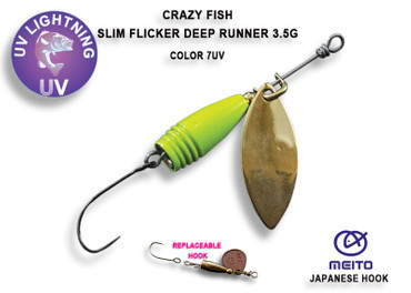 Crazy Fish Slim Flicker Deep Runner 3,5 gr – Bild 1