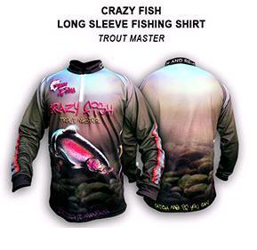 Crazy Fish Tournament Shirt Trout Master – Bild 1