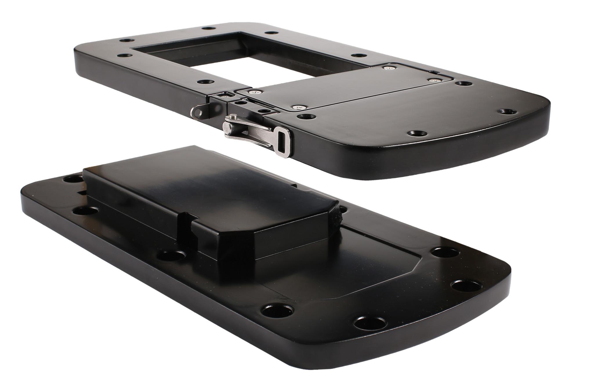 MotorGuide Xi5 Quick Release Montageplatte aus Aluminium, Schwarz – Bild 3