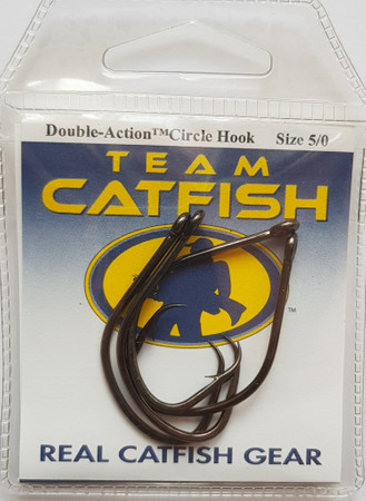 Team Catfish TC81Z Double Action Circle Hook zum Welsangeln,  Black Nickel Finish – Bild 1