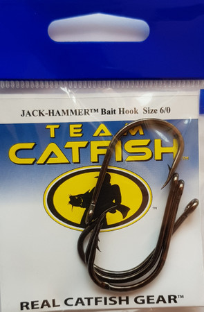 Team Catfish TC73Z Jack Hammer  Bait Hooks zum Welsangeln,   Black Nickel Finish