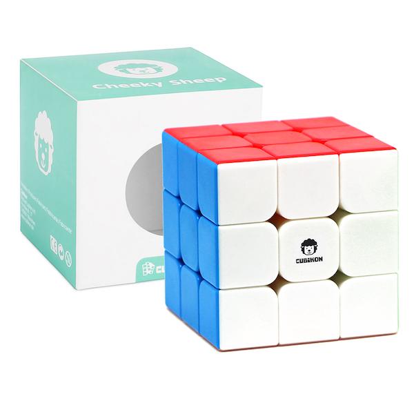 Speed Cube 3x3 Cheeky Sheep V2 - stickerlos