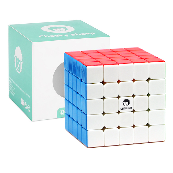 Speed Cube 5x5 Cheeky Sheep V2 - stickerlos