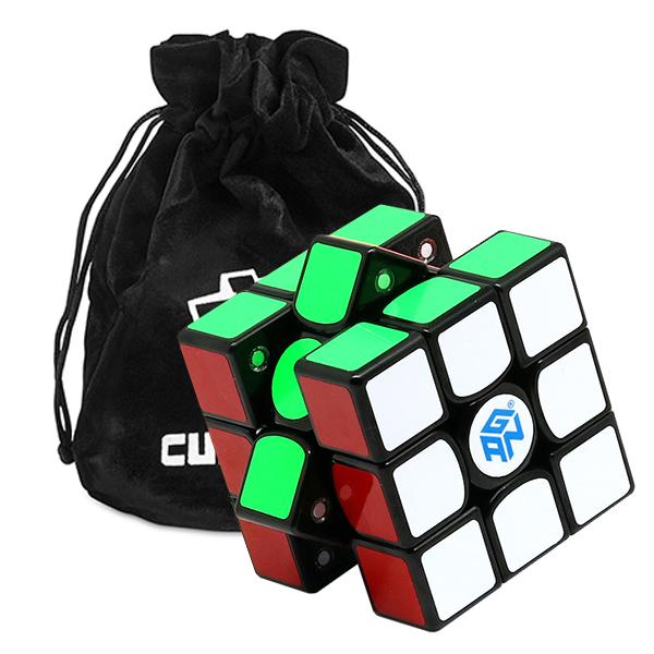 3x3 Speed Cube GAN356 X Numerical IPG - Schwarz