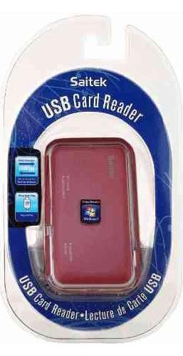 USB Card Reader - Saitek - Kartenlesegerät - Pink