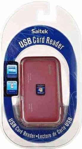 USB Card Reader - Saitek - Kartenlesegerät - Rot