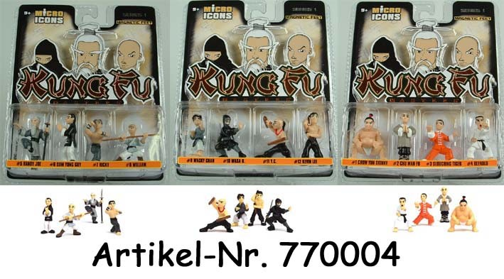 Micro Icons - KUNG FU Blister (4 Figuren)