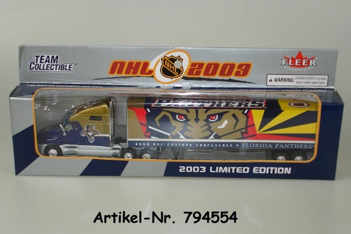 2003 NHL Team Truck Florida Panthers (1:80)