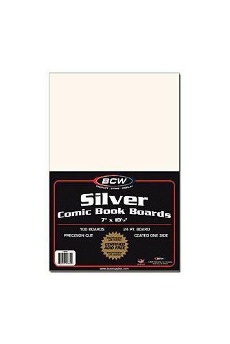 BCW Silver Comic Book Boards 24 pt. (100 ct.)