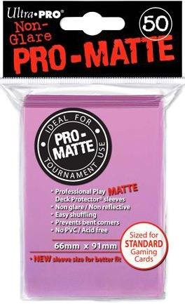 UP Pro-Matte Sleeves pink (50 ct.)